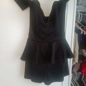 Love Culture Dresses - Black off the shoulder romper